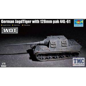 PKTM07165 Trumpeter 1:72 Scale German Jagdtiger w/ 128mm PaK44 L-61