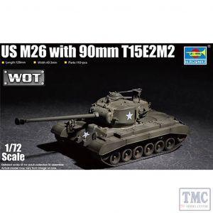 PKTM07170 Trumpeter 1:72 Scale US M26(T26E3) Pershing Heavy Tank 90mm T15E2M2