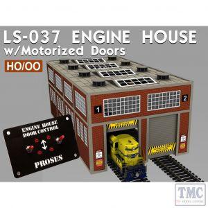 PLS-037 Proses HO/OO Scale Modern Engine House Kit w/Motorized Doors and Lights