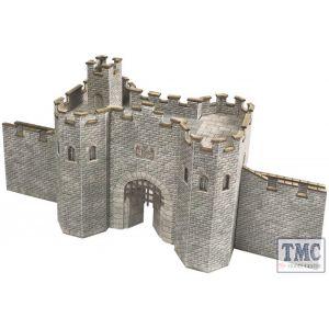 PN191 Metcalfe N Scale Castle Gatehouse Card Kit