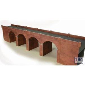PO240 Metcalfe OO/HO Double Track Viaduct Red Brick Card Kit