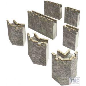 PO293 Metcalfe OO/HO Gauge Curtain Walls Card Kit