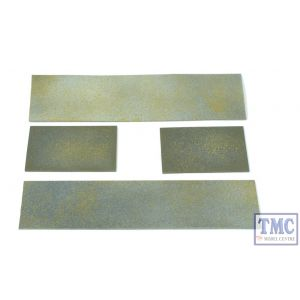 PWL1 Simulated Weathered Steel Plate Loads for Plate Wagons (2 x Long, 2 x Short) Crafted by TMC