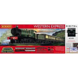 R1184 Hornby OO Gauge Western Express Digital Train Set with eLink & TTS loco