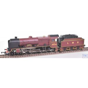 R2182B Hornby OO Gauge Patriot Class 5XP 4-6-0 Holyhead 5514 LMS Maroon (Ringfield Tender Drive) Real Coal & Crew Fitted by TMC
