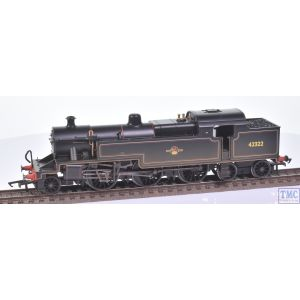 R2287 Hornby OO Gauge BR Fowler Class 4P 2-6-4T no.42322 BR Lined Black L/Crest (Factory Weathered)(Pre-owned)