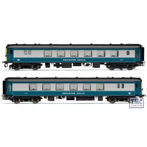R2988 Hornby HO/OO Gauge Brighton Belle 1967 2 Car Pack (2 X Drive MTR. Brake 3rd)