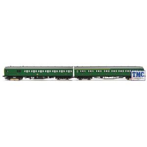 R3340 Hornby OO Gauge BR 2-HAL 2 Car Electric Multiple Unit Train Pack BR Green Yellow Front