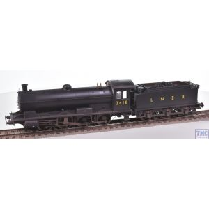 R3424 Hornby OO Gauge LNER 0-8-0 Raven Q6 Class Loco 3418 with Real Coal & Weathered by TMC