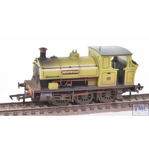 R3693 Hornby OO Gauge Peckett B2 Class 0-6-0ST No.4 Sherwood Colliery Co. Ltd (Era 3) Real Coal & Deluxe Weathering by TMC