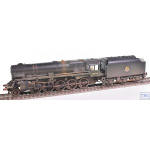 R3756 Hornby OO Gauge Railroad BR (Heavily Weathered) Crosti Boiler 9F Class 2-10-0 92028 - Era 4