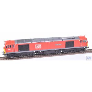 R3885 Hornby OO Gauge DB Cargo UK Class 60 Co-Co 60062 Stainless Pioneer (Era 11)(Missing a Roof Horn at one end)