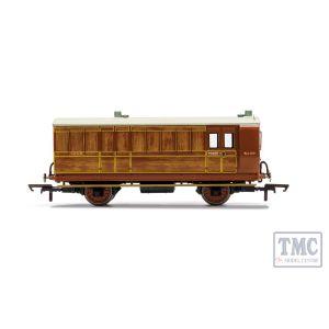 R40084 Hornby OO Gauge (1:76 Scale) LNER, 4 Wheel Coach, Brake Baggage, 4103 - Era 3 New Tooling