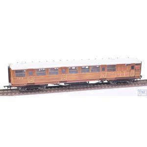 R4170 Hornby OO Gauge Gresley 61ft 6in Corridor Brake Composite Coach 32558 LNER Teak (Pre-owned)