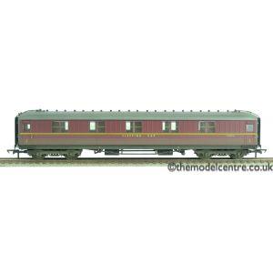 R4264A Hornby OO Gauge BR 61'6 Maroon Corridor Sleeper 1st Class E1235E Weathered by TMC