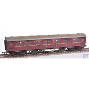 R4766 Hornby OO Gauge BR Collett Coach Corridor Composite LH Maroon