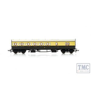 R4876A Hornby OO Gauge GWR, Collett 57' Bow Ended D98 Six Compartment Brake Third (Left Hand), 5503 - Era 3