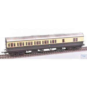 R4876A Hornby OO Gauge GWR Collett 57ft Bow Ended D98 Six Compt Brake Third Coach (Left Hand) 5503 (Era 3) Weathered by TMC