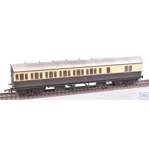 R4877A Hornby OO Gauge GWR Collett 57ft Bow Ended D98 Six Compt Brake Third Coach (Right Hand) 5504 (Era 3) Weathered by TMC