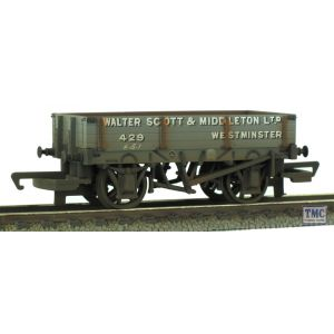 R6576 Hornby HO/OO Gauge Walter Scott & Middleton Ltd. 3 Plank TMC Weathered