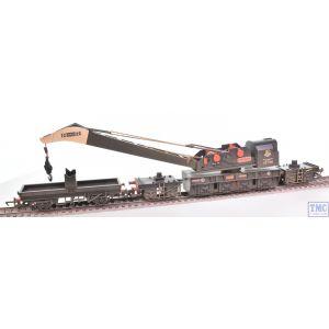 R6897 Hornby OO Gauge BR 75T Breakdown Crane - Era 6