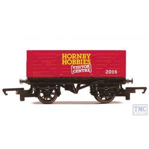 R6779 Hornby OO Gauge HORNBY VISTOR CENTRE 2016 7 PLANK OPEN WAGON