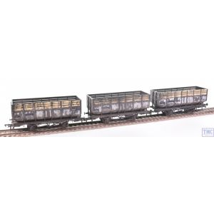 R6783 Hornby OO Gauge 20T Coke Hoppers 3 Pack British Railways (Era 5/6) Deluxe Weathering by TMC