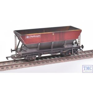 R6853 Hornby OO Gauge BR Railfreight HEA Hopper Wagon 361188 (Era 8) with Deluxe Weathering by TMC