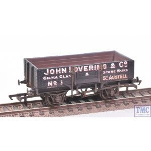 R6869 Hornby OO Gauge 5 Plank Wagon John Lovering & Co. No.1 (Era 2) Weathered by TMC