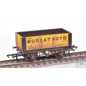 R6873 Hornby OO Gauge 6 Plank Wagon J.O Murgatroyd No.1043 (Era 2) Weathered by TMC