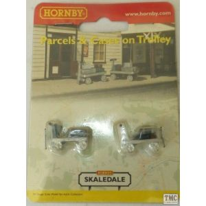 R8676 Skaledale OO/HO Gauge 2 Platform Trolleys with Cases