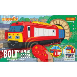 R9312 Hornby Playtrains Bolt Express Goods Battery Operated Train Pack