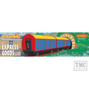 R9316 Hornby Playtrains Express Goods 2 x Closed Wagon Pack