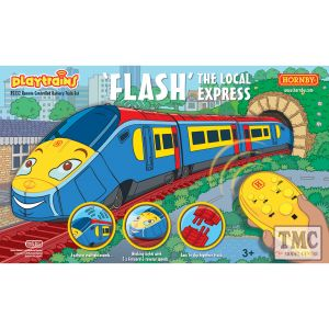 R9332 Hornby Playtrains Flash The Local Express Remote Controlled Battery Train Set