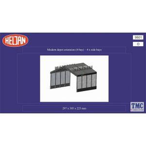 HEL3009501 Heljan O Scale Modern Depot 4 Bay Extension Set