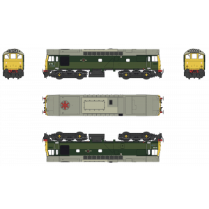 2542 Heljan OO Gauge Class 25 25102 BR Two Tone Green Full Yellow Ends TMC Limited Edition