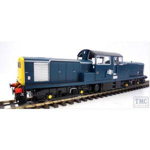 1752 Heljan O Gauge Class 17 BR blue unnumbered FYE