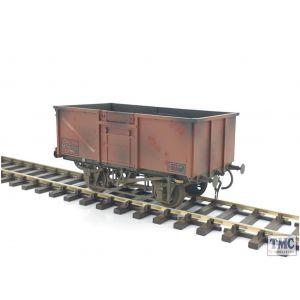 GM7410306 Gaugemaster O Gauge 16t Mineral Wagon BR Bauxite 570260 Weathered