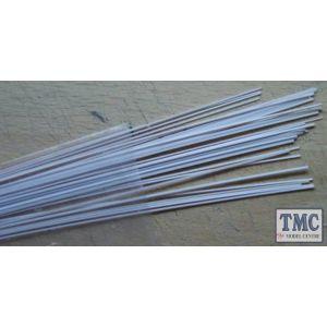 1004 Slaters Microstrip 0.010 inch x 0.030 inch (10 thou x 30 thou) White (Approx 25pcs at 260mm long)