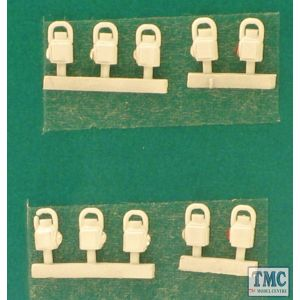 SPDA4-2 Springside OO Gauge LMS Head & Tail Lamps White 10pk