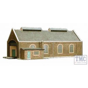 A5 Superquick OO/HO Two Track Engine Shed - Card Kit