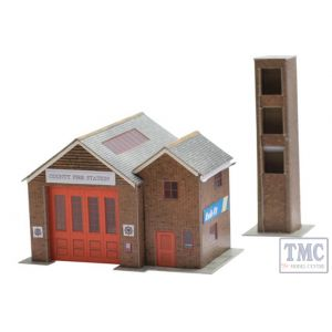B36 Superquick OO/HO Country Fire Station - Card Kit