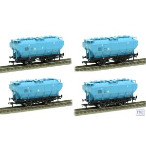 38-500Z Bachmann OO Gauge Pack of 4 BSC Ice Blue Covhop Wagons TMC Exclusive B870785 B870803 B886629 & B886743