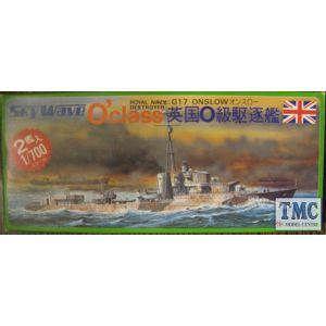 Skywave 1/700 O' Class Royal Navy Destroyer HMS Onslow G17 Kit No 3 (Pre owned)