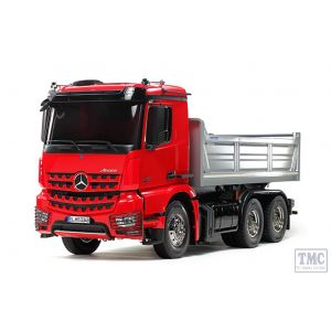 56361 Tamiya 1/14 Scale Arocs 3348 Tipper [Painted red/silver]
