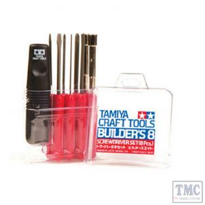 TA74023 Tamiya BUILDER'S 8 pc Screwdriver set