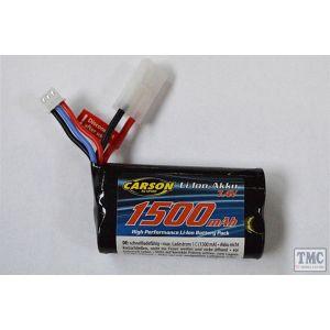 C608199 Carson RC 7.4v Li-ion 1700mAh Power Pack for 57409