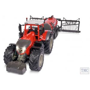 C907345 Carson RC 1:16 RC Tractor w. road tank 100% red