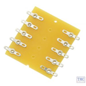 TAGBD10 Dual Row Tag Strip Board N/HO/OO Scale Power Bus Tag Strips (2 x 5)