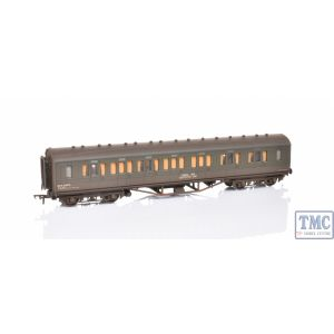 34-253 Bachmann OO Gauge 57ft Ex-LMS Composite Coach BR Departmental Olive Green Weathered by TMC (Pre Owned)